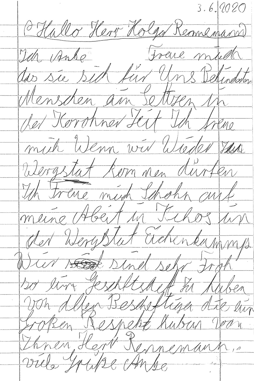 Ein Brief von Anke