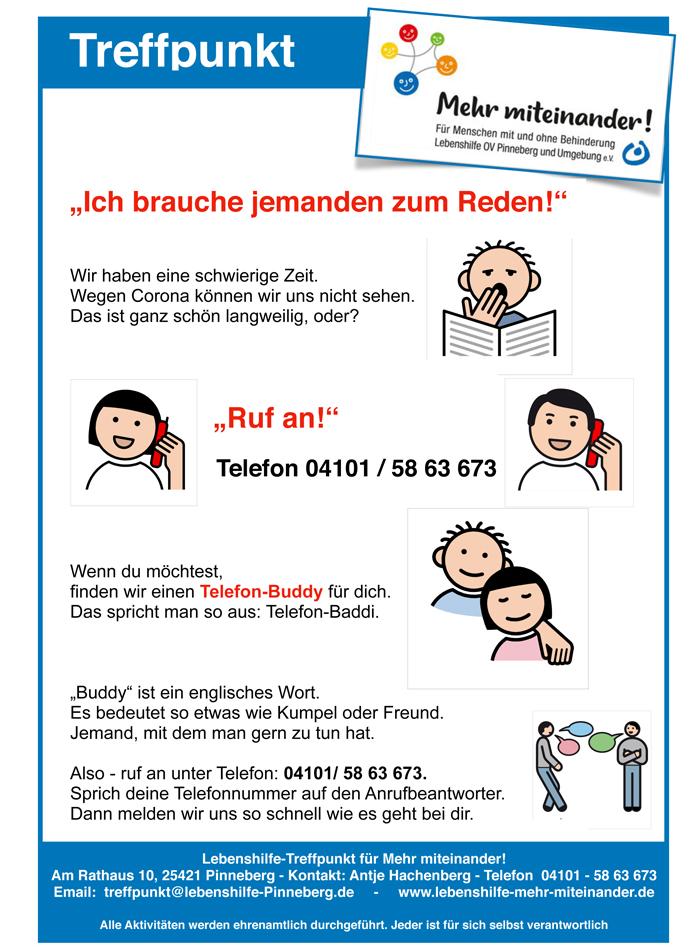 """Plakat """"Miteinander telefonieren"""""""
